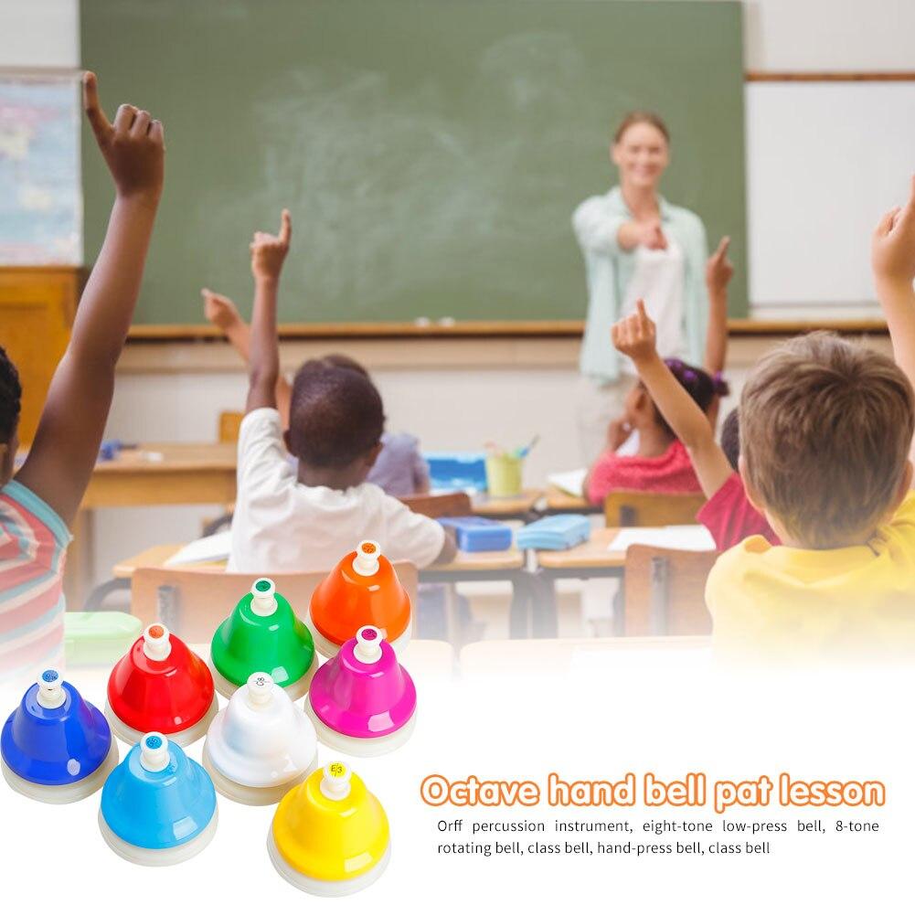 Elementos de Música Portátil para Crianças Notas Colorido Sino Instrumento Musical Leve Educação Precoce Brinquedos 8 Mão