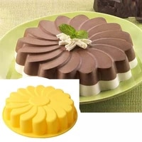 3d flower shaped silicone big cake mold baking mould dessert mousse chocolate cake bakeware diy toast bread baking pan tool