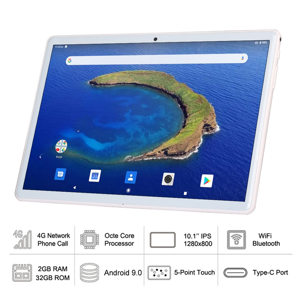 2021 New 10 Inch Tablet Android 9.0 Octa Core 4G LTE Phone Call 2GB + 32GB Duall SIM Card WiFi Bluetooth GPS Tablets Pc Kids tab enlarge