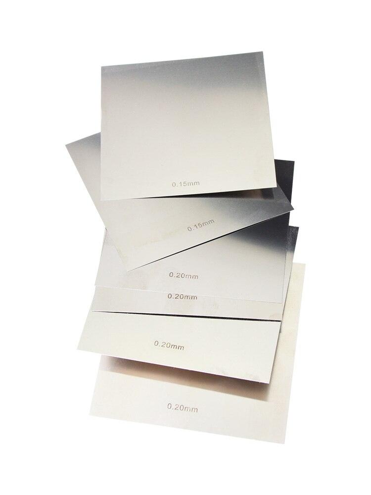 1Pc 304 Edelstahl Poliert Platte Blatt dicke 1mm/1,2mm/1,5mm/1,8mm/2mm/2,5mm/3mm/4mm/5mm x 100mm x 100mm quadratische platte