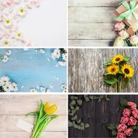 vinyl custom photography backdrops scenery flower and wooden planks photography background 191020 21 22 003