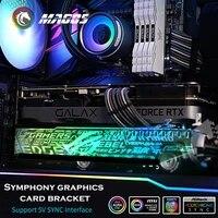 Video Karte Unterstutzung ARGB  Grafikkarte Halter RGB  GPU Halterung M B Glauben Lampe SYNC ASUS MSI GIGA   PC MOD Angepasst
