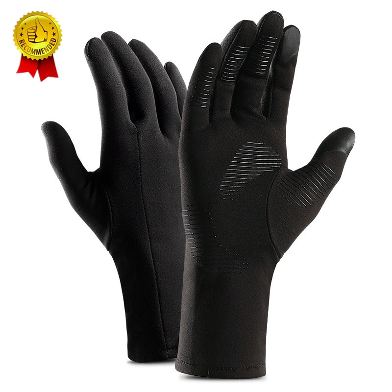 Drop Schiff Winter Herbst Touchscreen Lauf Handschuhe Leichte Non-slip Warme Villus Handschuhe Männer Frauen Wasserdichte Motorrad L XL