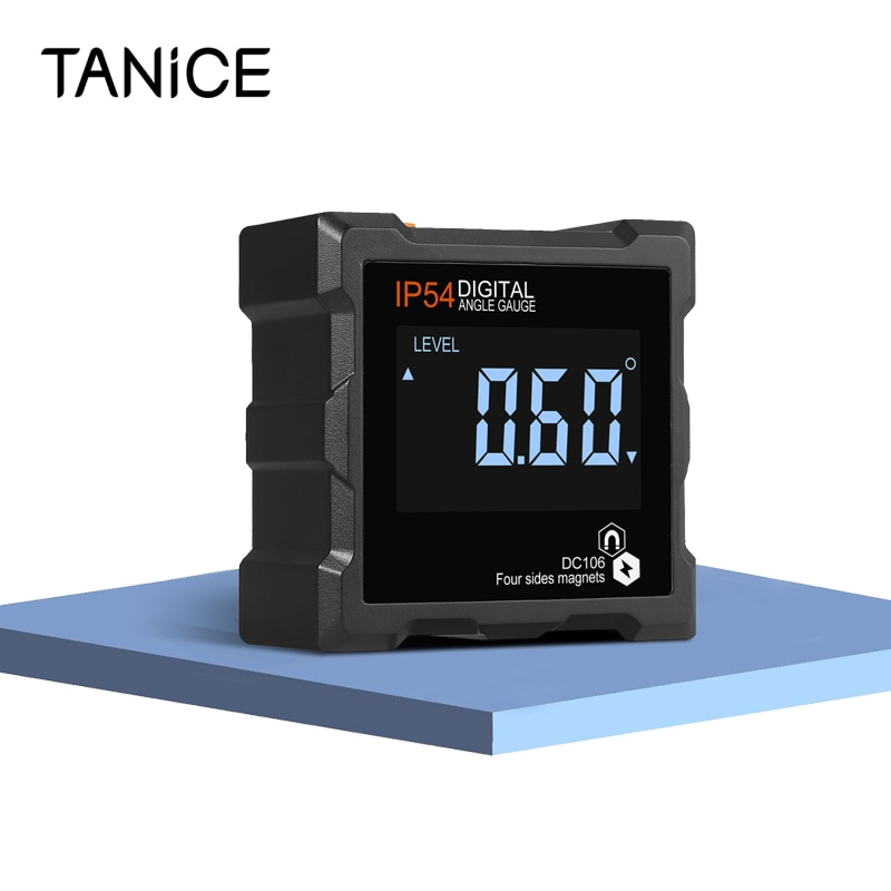 TANiCE Portable Digital Level Box Waterproof Angle Finder Protractor Level Gauge Bevel Gauge Inclinometer With LCD Display