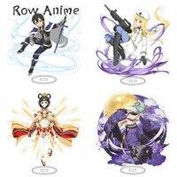 sword art online sao kirito asuna family yui acrylic stand figure model double side plate holder topper anime bl props