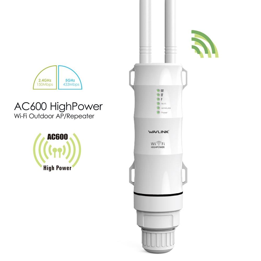 Repetidor sem Fio à Prova Água de Alta-potência ao ar Ponto de Acesso Livre Wifi Router – Cpe Wisp Dupla Dand 2.4 5ghz 12dbi Antena Poe Ac600 3-1 d'