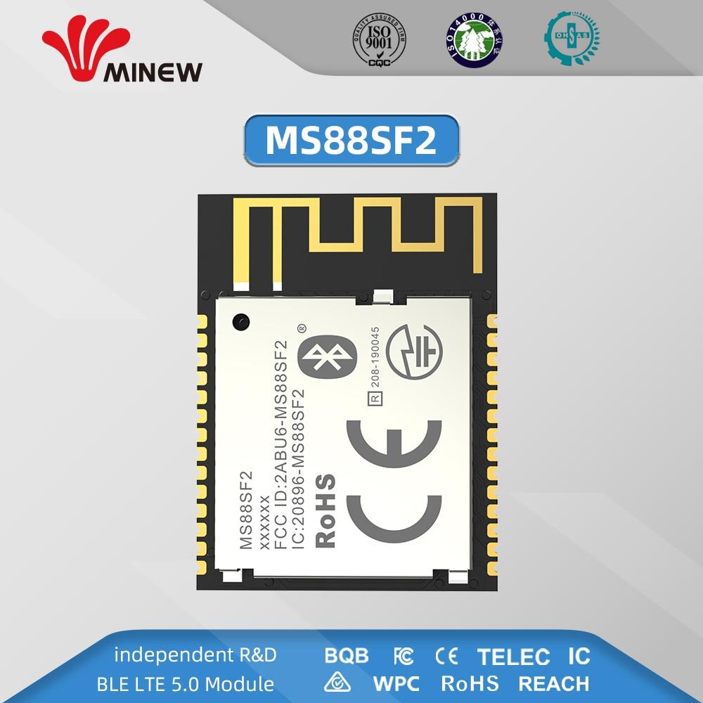 Módulo BLE 5,0 inalámbrico MS88SF2 de potencia ultra baja y muy Flexible basado en 2,4 ghz nRF52840 SoCs compatible con red de malla USB NFC