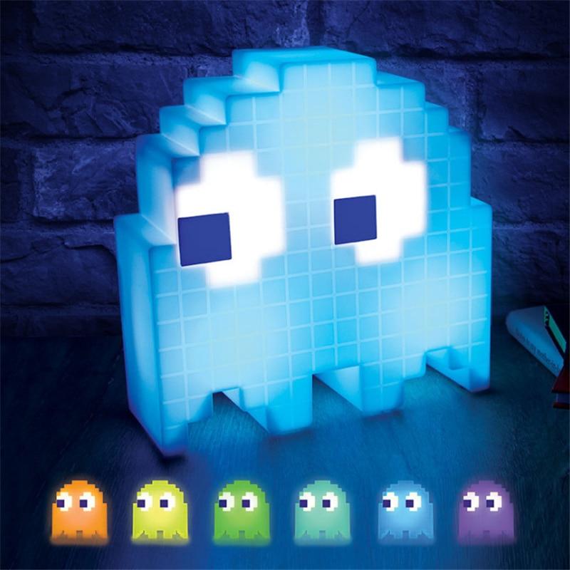 Pac Pixel-Lámpara LED de noche para niños, luces de fiesta de escritorio...