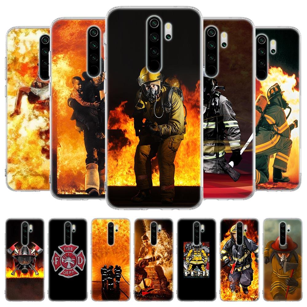 Funda de silicona para Xiaomi Redmi Note 8T 6 7 8 Pro 9S Redmi K20 Pro 6 6A 7 7A 8 8A K30 5G funda bombero héroes bombero