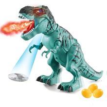 Dinosaure tyrannosaure Rex Animal électrique marche animaux jouet bas ponte oeuf Projection pour enfants cadeau de noël