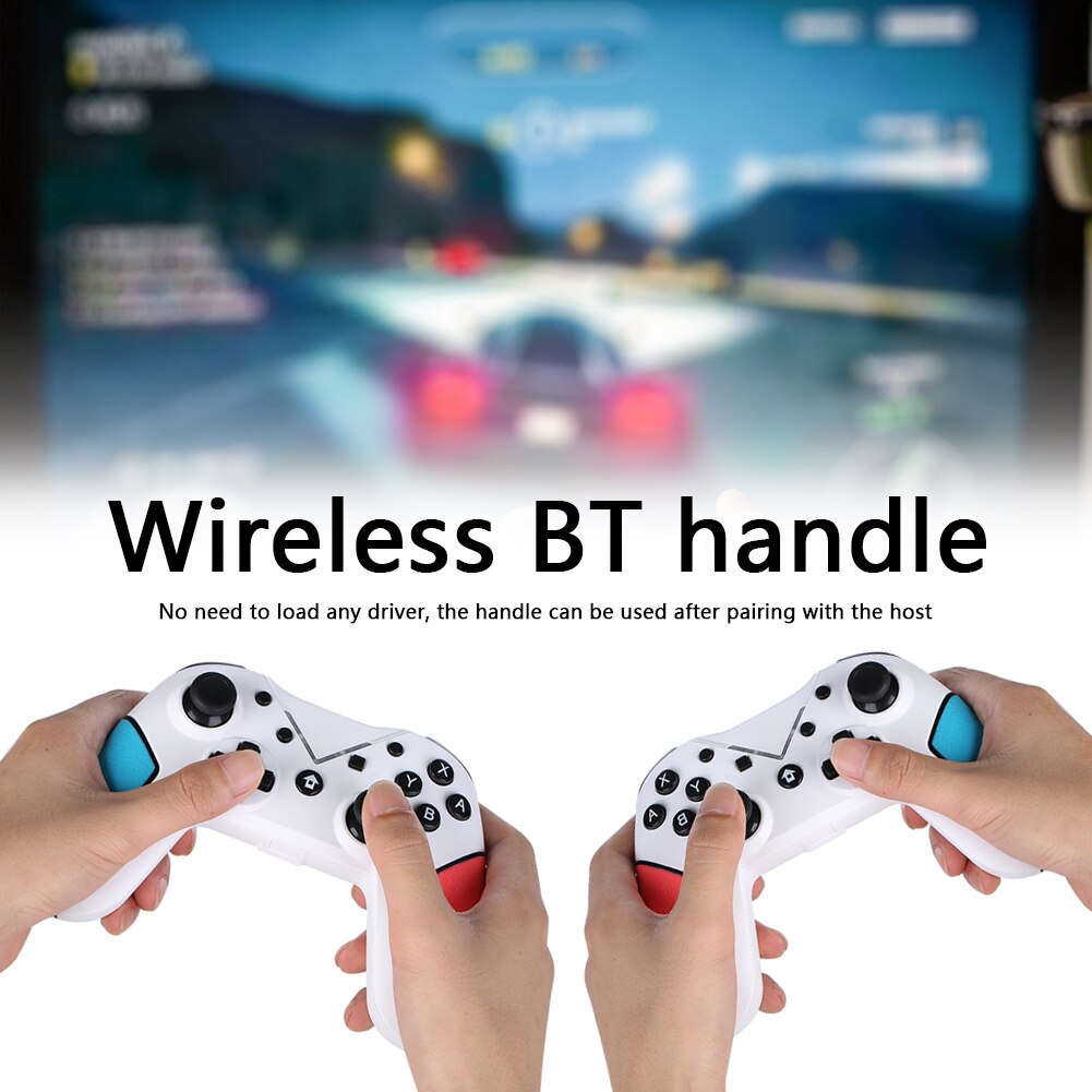 Bluetooth Gamepad Controller w/Dual Vibration Motor for N Switch Pro 6 Axis Gyro Game Electronics Replace Accessories