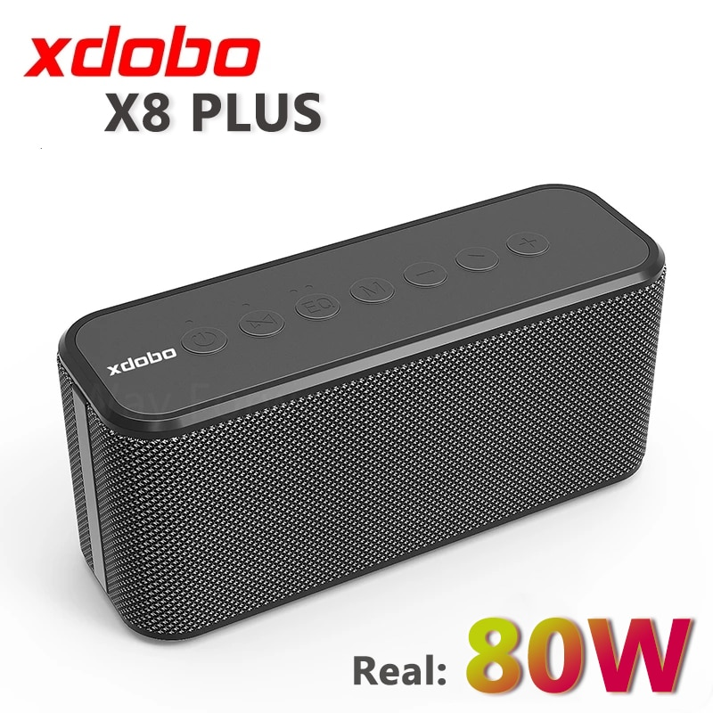 Review 80W XDOBO X8 PLUS Portable Bluetooth Speakers TWS Wireless Heavy Bass Boombox Music Player Subwoofer Column Suporrt USB/TF/AUX