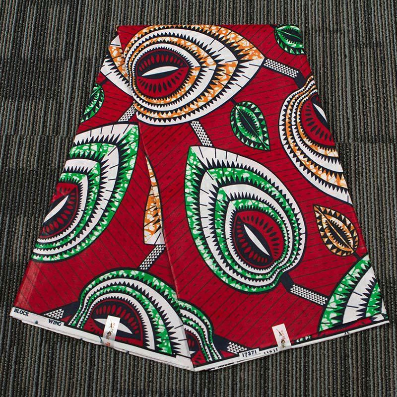 Lychee Life tela estampada de cera Africana Ankara de 1 yarda tela de algodón de cera Real para los materiales de la confección de ropa de las mujeres del partido