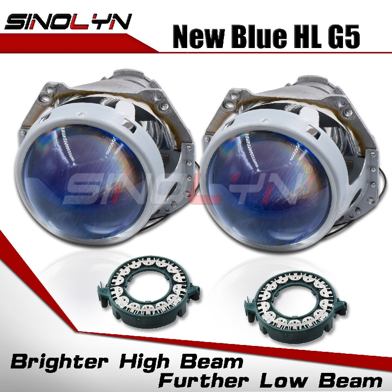 Sinolyn Hella 3R G5 D2S D1S Headlight Lenses Bixenon Lens 3.0 Blue Projector For Car Lights Accessor