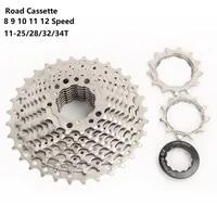 8 9 10 11 12 speed road bike cassette road bicycle freewheel flywheel 11 232528323436t sprocket for shimano sram