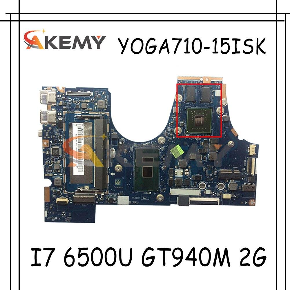 Akemy لينوفو Yoga710-15isk اليوغا 710-15iSk BIUY2_Y3 LA-D471P اللوحة المحمول CPU I7 6500U GT940M 2G 100% اختبار OK