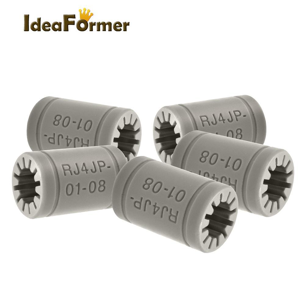 5/10 Uds 3d piezas de la impresora de plástico RJ4JP-01-08 LM8UU 8mm lineal de bolas baearing casquillo bush para Anet A8 Prusa I3