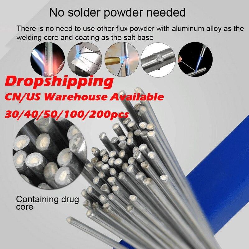 30/40/50/100 UDS No necesita soldadura polvo de soldadura de aluminio Rod 1,6/2/2,...