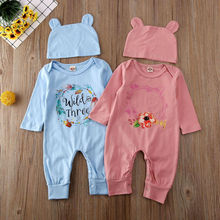 Infant Baby Boys Girls Long Sleeve Clothes Rompers Jumpsuits Playsuit Outfits