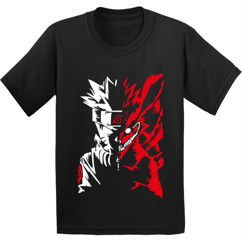 100% algodón, niños Anime Naruto Akatsuki camiseta niños Itachi ropa Uchiha niños chicas verano moda Tops camiseta, GKT002