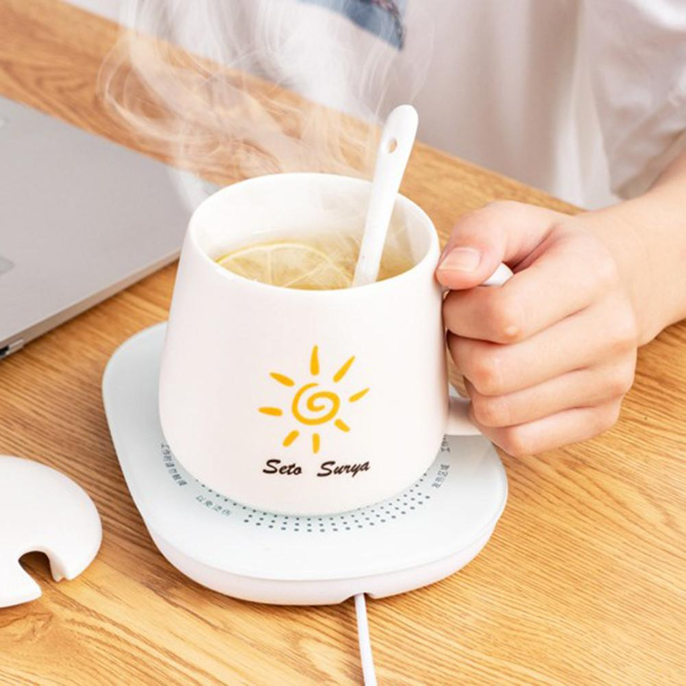 Almohadilla calefactora eléctrica de 220V taza eléctrica almohadilla calefactora café té leche taza Oficina cocina casa