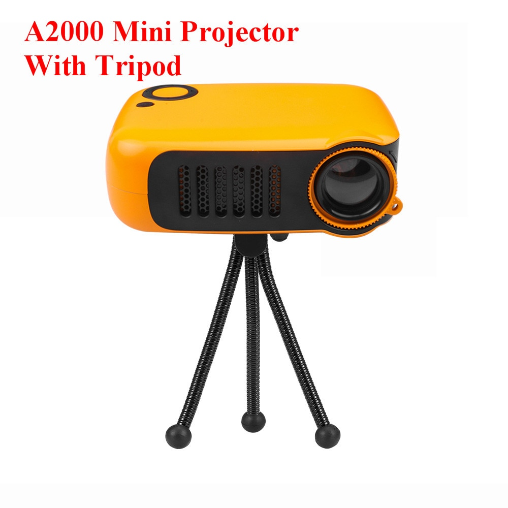 Mini Projektor A2000 Media Player Proyector Unterstützung 1080P Power Bank HDMI USB SD Karte Heimkino Video Projektor PK YG-300
