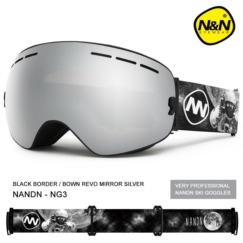 Фото - NANDN ski goggles snowboard double layers UV400 anti-fog big ski mask glasses skiing nandn ski goggles double layers uv400 anti fog big ski mask glasses skiing men women snow snowboard goggles ng5