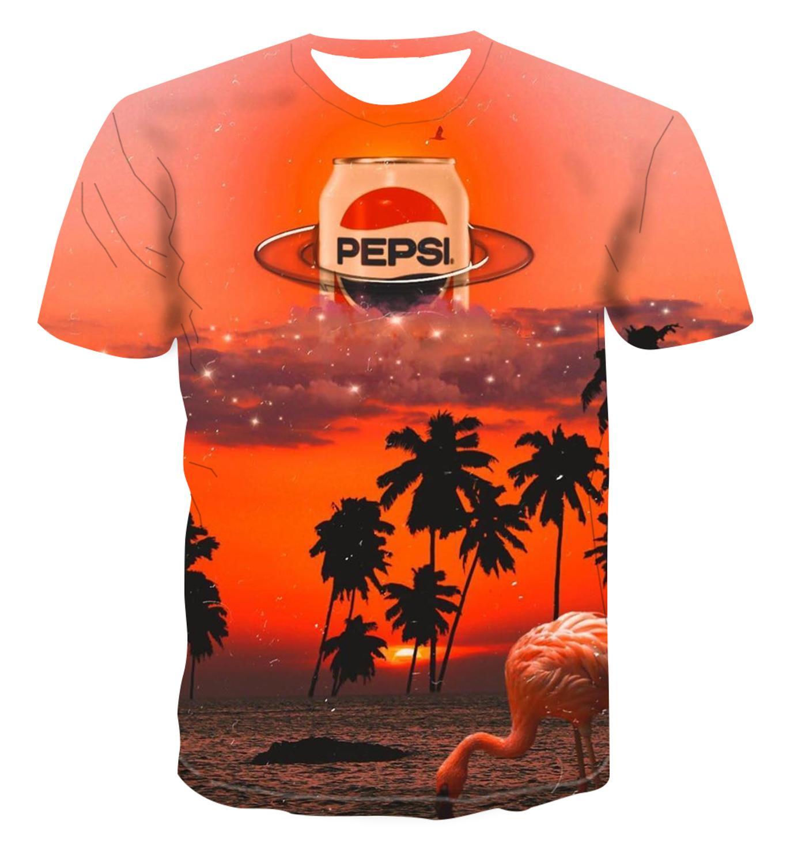 Camiseta Popular con impresión 3D, diseño creativo de arte, paisaje interesante/para hombre y mujer, color fresco e informal en verano s-6xl