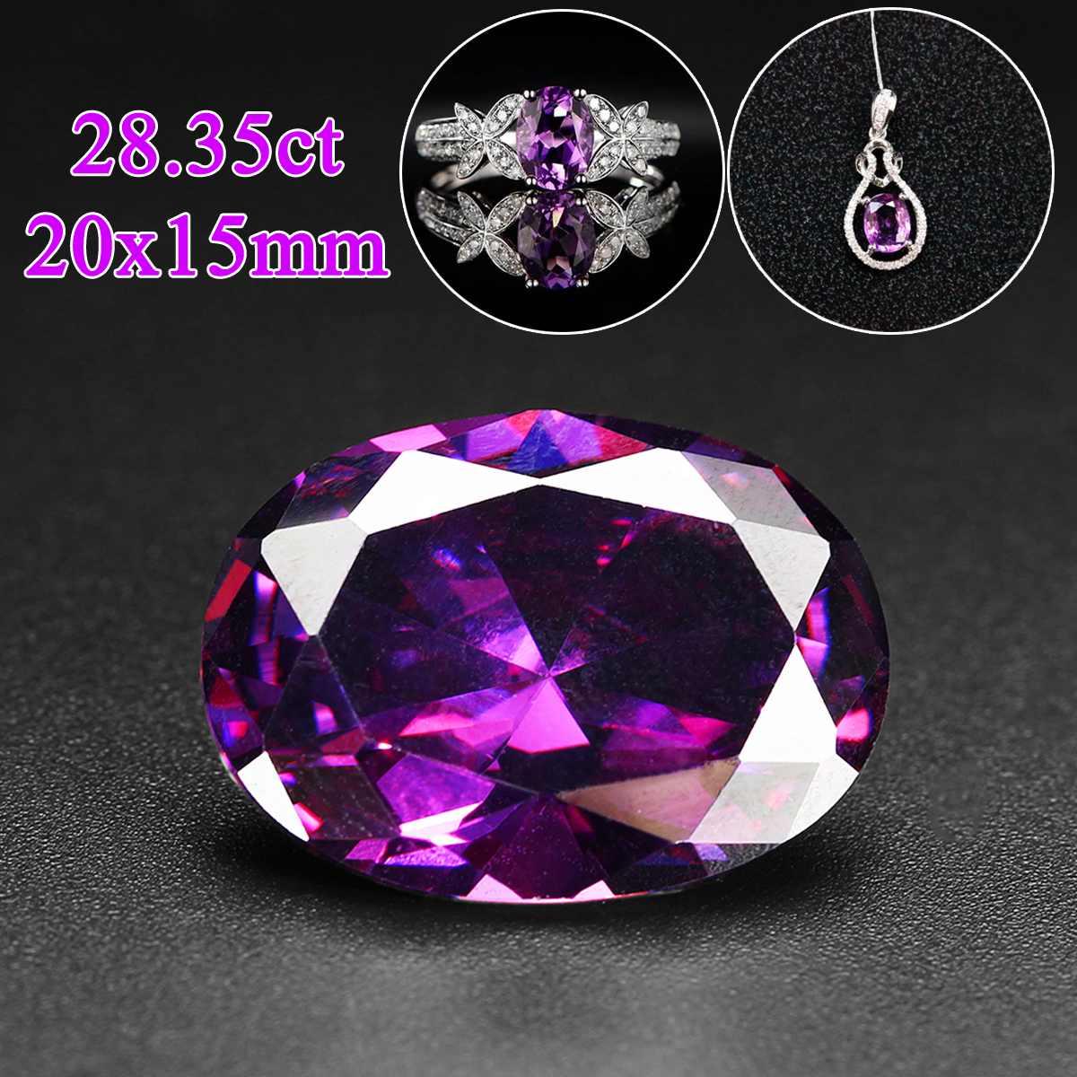 KIWARM 28.35ct 20x15mm 8 tipos coloridos ovalados elípticos corte piedras preciosas VVS AAA zirconia joyería boda fiesta anillo gemas decoraciones