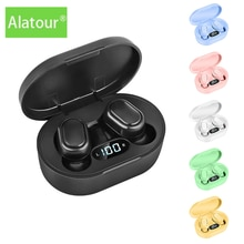 Alatour Wireless Headphones Bluetooth 5.0 LED display Earphones Sport Earbuds Headset Charging box H