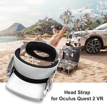 Регулируемый ремешок на голову с прокладка из пены с эффектом памяти подушка из пенопласта Очки виртуальной реальности VR шлем аксессуары для Oculus Quest 2 Очки виртуальной реальности VR гарнитура