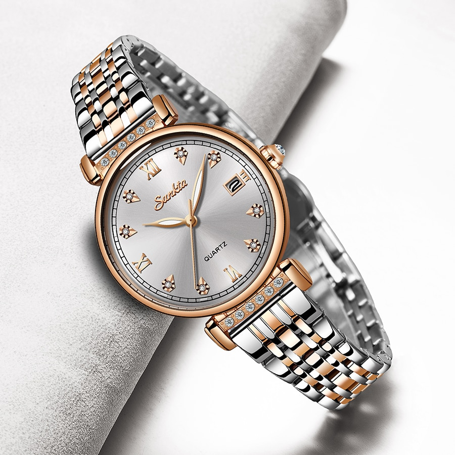 LIGE Brand SUNKTA New Women Watches Business Quartz Watch Ladies Top Luxury Female WristWatches Girl Clock Relogio Feminin
