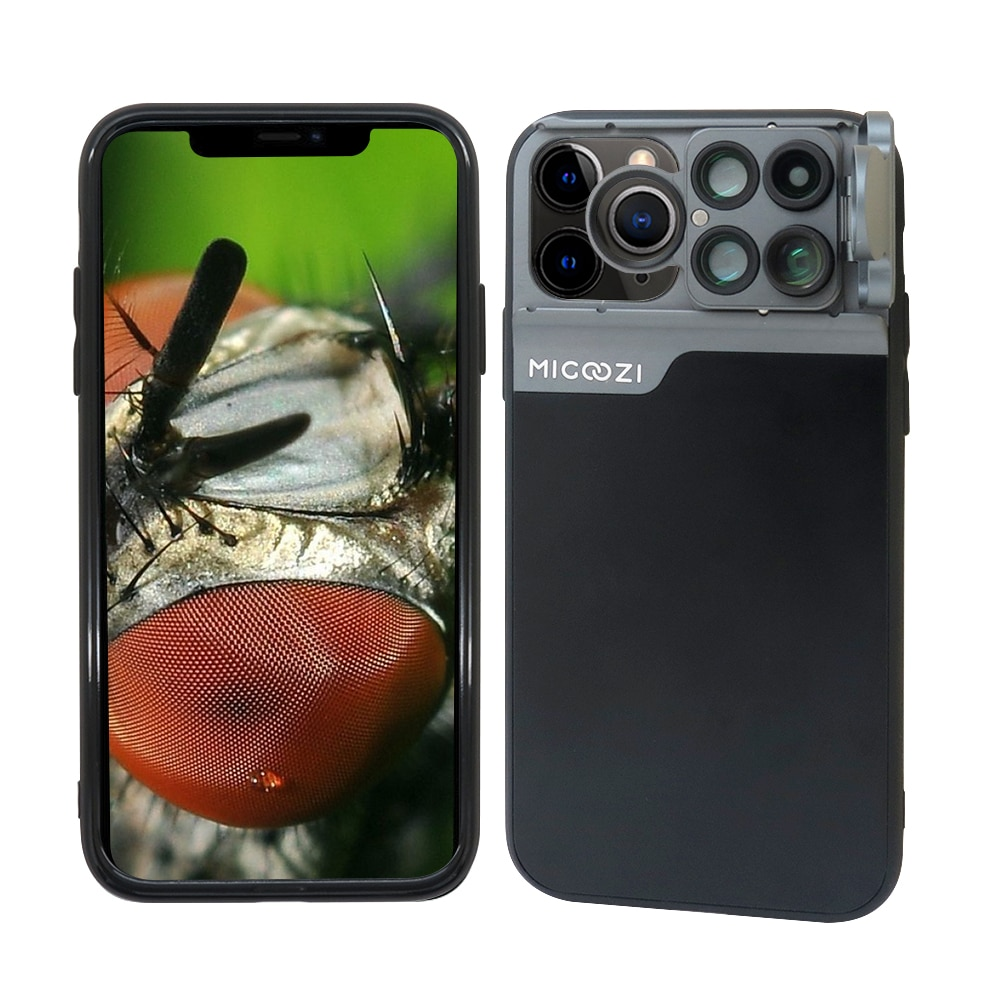 Novo para o iphone 11 pro max kit lente da câmera olho de peixe grande angular macro telescópio cpl lente caso capa para iphone x xr xs max 7 8 plus