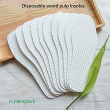 10 Pairs/Pack Disposable Insoles Nature Wood Pulp Insoles Men and Women Thin Breathable Sweat Soft C