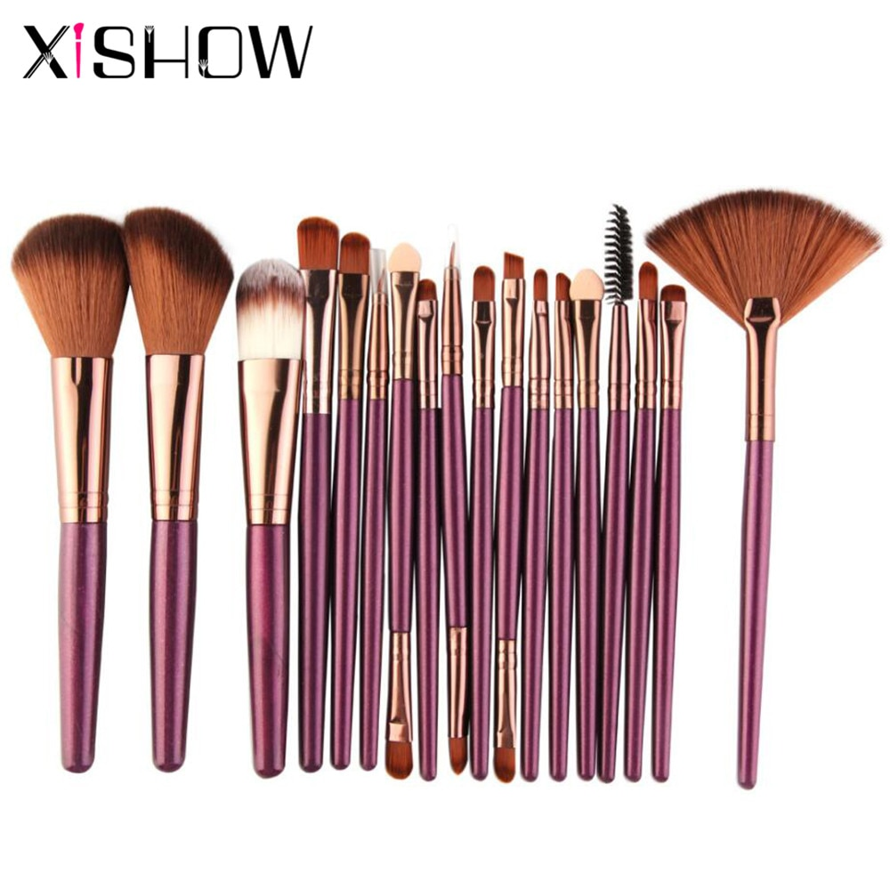 Makeup brushes Set 18pcs Cosmetics makeup Eyeliner Blending Highlighter Powder Foundation Eyelash Eyebrow Blush Brush Maquiagem