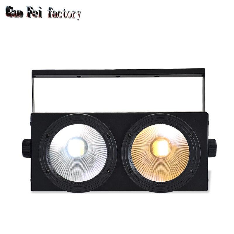 Led الاسمية Dmx ضوء Lyre غسل COB 2X100W الكاشف مع الأبيض الإيجابي والأبيض الدافئ 2In1 الألوان للمرحلة مصابيح دي جي