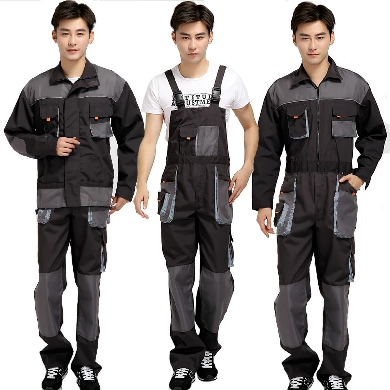 Men Bib Working Overalls Male Work Wear uniforms Fashion Tooling Overalls Worker Repairman Strap Jumpsuits unisex siamese overalls auto repair work clothes sleeveless protective coverall dancing strap jumpsuits working uniforms 2019