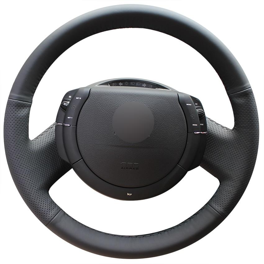 Black Artificial Leather Car Steering Wheel Cover for Citroen Triumph C4 2005 2006 2007 2008 2009 2010
