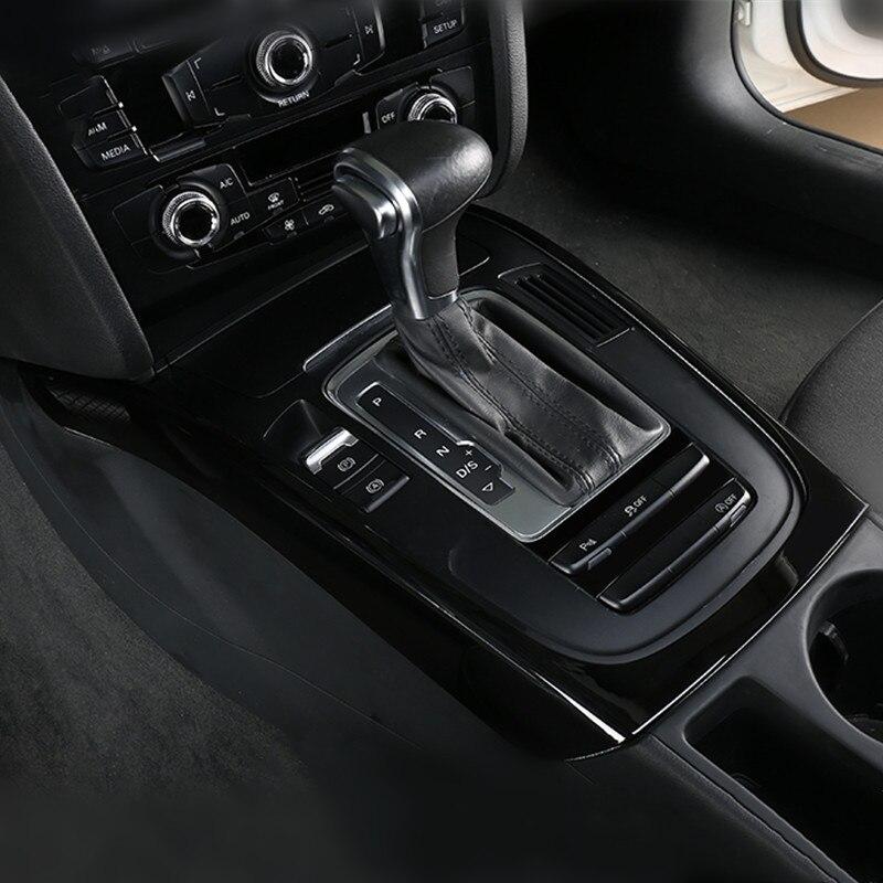 Car Console Armrest Gear Shift Decoration Frame Sticker Trim For Audi A5 A4 B8 2010-2016 Interior Automotive Accessories