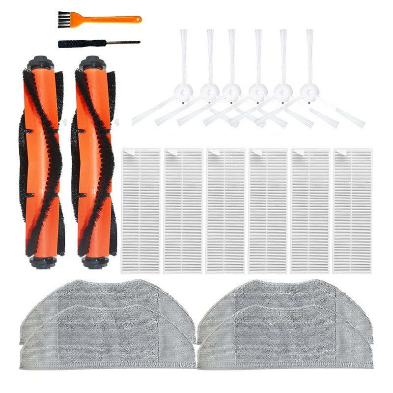 Side brush Filter kits for Xiaomi Mijia G1 Vacuum cleaner accessories Mop Cloth Roll brush Hepa filter spare parts