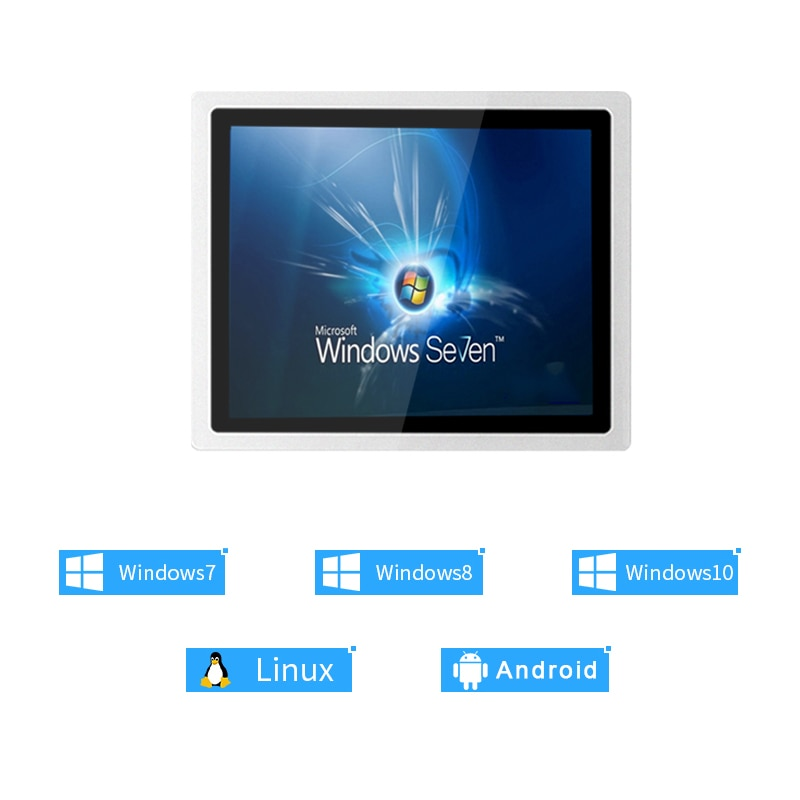 10/12/15 inch win7/win10 industrial touch computer capacitive touch screen COM i3i5i7 4G 64g WiFi fan less all in one panel pc enlarge