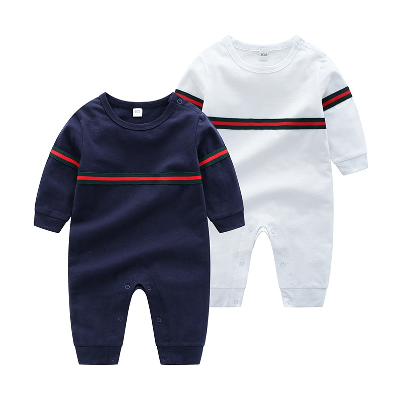 newborn baby clothes 100%cotton knit long sleeve baby girl romper summer toddler boy clothes fashion infant clothing Newborn Baby Romper Infant Cotton Long Sleeve Striped Clothes Toddler Boy Fall Clothes Newborn Boy Spring Clothes Kids Outfit