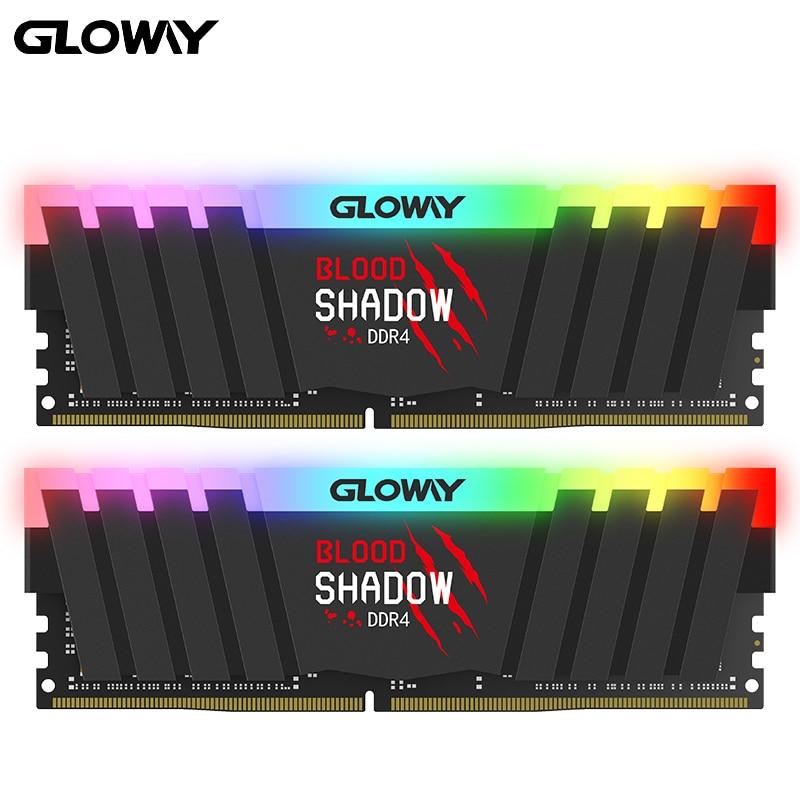 ذاكرة الوصول العشوائي Gloway DDR4 8GB RGB سلسلة ذاكرة الوصول العشوائي DDR4 8gb * 2 16gb 3000MHZ RGB RAM للألعاب سطح المكتب ذاكرة الوصول العشوائي