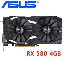 ASUS Scheda Video RX 580 4GB 256Bit GDDR5 Schede Grafiche per AMD RX 500 serie di Schede VGA RX580 4GB RX580 Utilizzato DisplayPort HDMI DVI