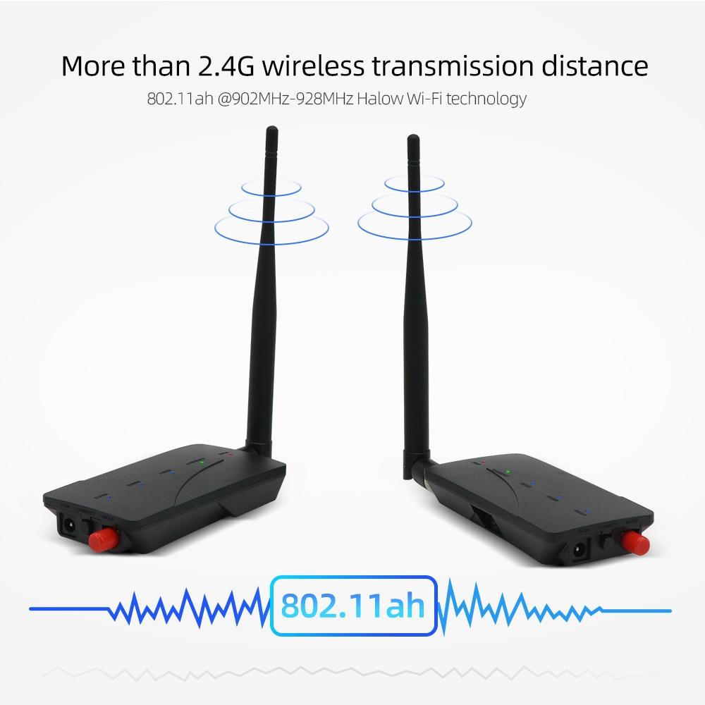 Doornanny 1000M Cabel Extender Wireless Repeater Camera WiFi Digital Signal Amplifier 2.4Ghz 802.11ah Transmitter & Receiver enlarge