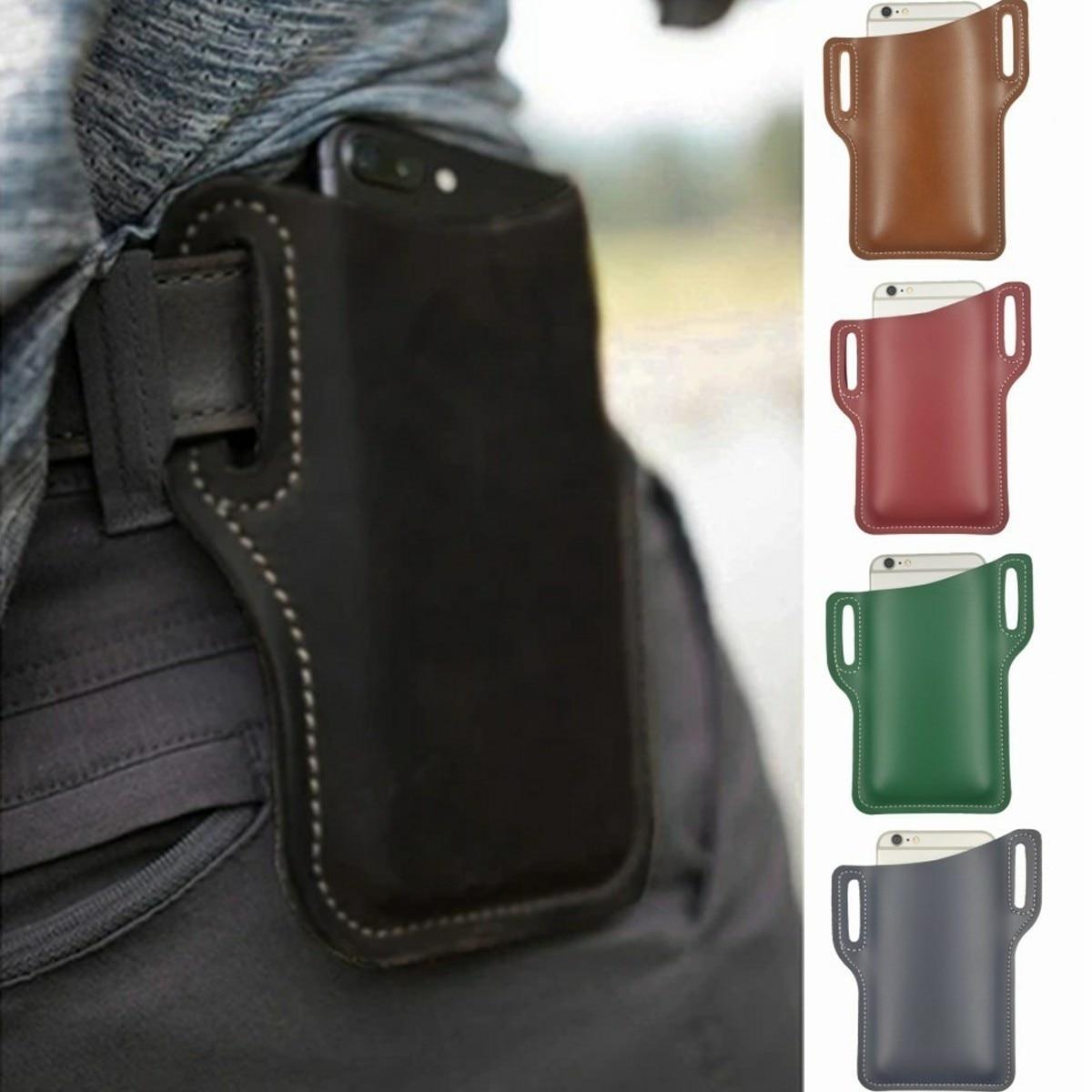 AliExpress - 7 Colors Unisex Cellphone Leather Holster Belt Loop Case Belt Waist Phone Bag Men Women Cosplay Props Leather Purse Phone Wallet