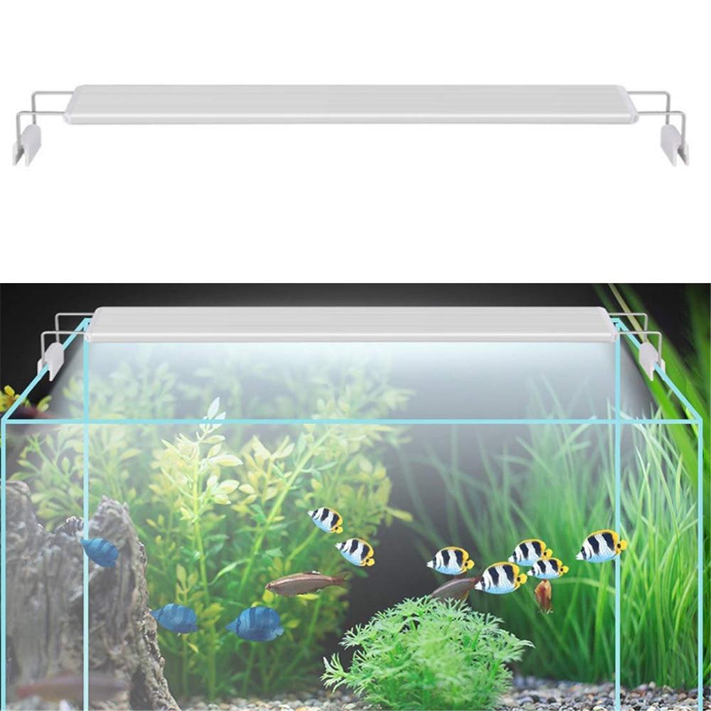 Superfino acuario con luces led, luz para plantas acuáticas, 18-75CM, Extensible, impermeable, lámpara con Clip para acuario, luz ajustable