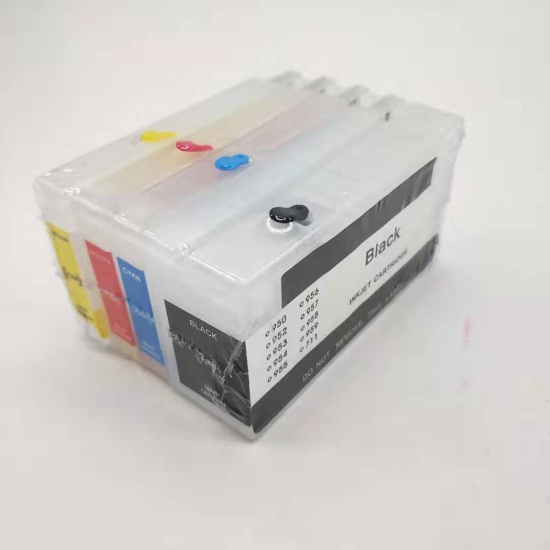 10 компл./лот пустые многоразовые чернильные картриджи для HP 8100 8600 8610 8620 8630 251dw 276dw 8640 8615 950/951 с чипом автоматического сброса