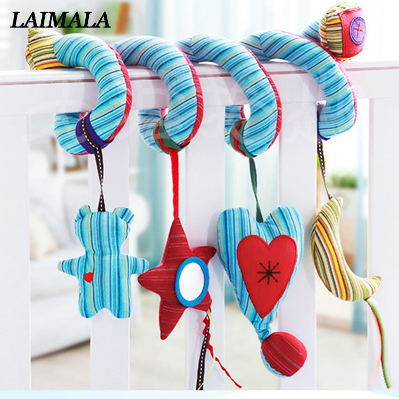 Activity Spiral Bed Stroller Toy Hot Cute Infant Baby Toys Around The Bed Stroller Hanging Bell Crib Rattle Toys For Baby