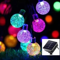 led solar outdoor courtyard decorative bubble lamp string ball crystal waterproof ball color lamp string
